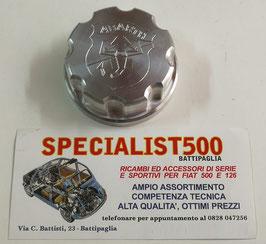 TAPPO SERBATOIO IN ALLUMINIO SCORPIONE  ABARTH - FIAT 500 F - L - R - FIAT 600