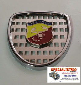 FIAT 600 D'EPOCA-ABARTH 750- 850-1000 MASCHERINA IN METALLO CROMATO SENZA BAFFI