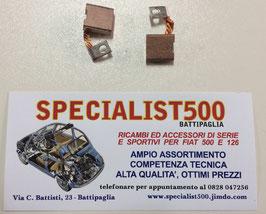 COPPIA SPAZZOLE MOTORINO DI AVVIAMENTO 500 T. T. - 126 T. T.