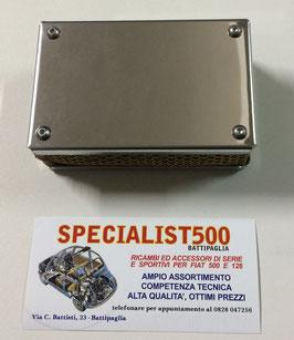 SCATOLA BOX FILTRO ARIA IN ACCIAIO PER CARBURATORI : SOLEX 35 PHH - DELLORTO DHLB 32 - SOLEX C 32 PHHE - SOLEX 35 PHHE - WEBER DCOF 32