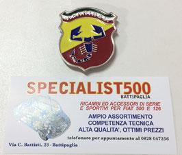 FREGIO SMALTATO SCORPIONE2   PER MASCHERINA ABARTH TRICOLORE FSA 001 / 002