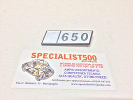 SIGLA IN PLASTICA POSTERIORE 126  650
