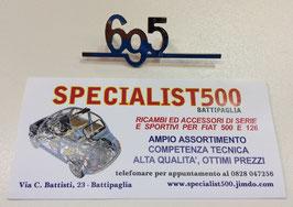 """SCRITTA IN ACCIAIO SUPER LUCIDO   """"695"""" PICCOLA PER CRUSCOTTO"""