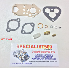 KIT REVISIONE CARBURATORE 500 D - F - L   WEBER 26 IMB  - 6 - 10