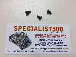 KIT CHIODINI FISSAGGIO TARGHETTA IDENTIFICATIVA  500 - 126 - 600 - 850 - BIANCHINA