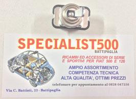 INTERRUTTORE LUCE CRUSCOTTO 2 ATTACCHI CON LEVA CROMATA TIPO ORIGINALE CONNETTORI TONDI FIAT 500 N D
