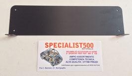 FIAT 500 D- F- L -R 600 SUPPORTO CORNICE TARGA ANTERIORE CON STAFFE ZINCATO E VERNICIATO A POLVERE