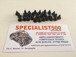 GOMMINI FISSAGGIO TAPPETO PAVIMENTO/ MOQUETTE 20 PEZZI FIAT 500 F L R