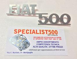 SCRITTA IN ALLUMINIO      FIAT 500        PER 500 MORETTI
