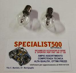 COPPIA LAMPADINA 12V 35/35W PER PROIETTORI FIAT 500 N D - FIAT 600 1à serie