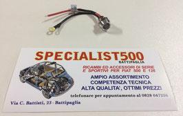 FIAT 500 F/L/R 126 INDICATORE LUCE COLORE BLU SPIA A LED DA CRUSCOTTO CROMATA