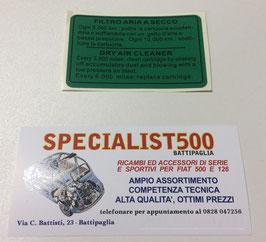 ADESIVO SCATOLA FILTRO ARIA 500 D