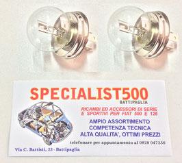 COPPIA LAMPADINA ASIMMETRICA R2 - P45T - 12V/45/40 WATT PER FARO PROIETTORE