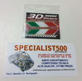 ADESIVO 3D STICKERS  TRIDIMENSIONALE FLESSIBILE BRILLANTE ED INALTERABILE