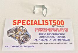 PIASTRINA FISSAGGIO TUBO FRENO ANTERIORE DESTRO FIAT 500