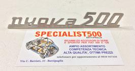 SIGLA IN ALLUMINIO PER COFANO MOTORE 500 D - F ( nuova 500 )