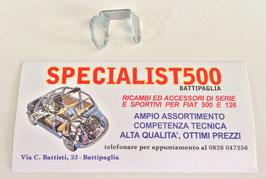 PIASTRINA FISSAGGIO TUBO FRENO ANTERIORE SINISTRO FIAT 500