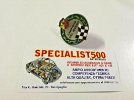 FIAT 500 - 126 FREGIO SMALTATO CAMPIONE DEL MONDO ABARTH ORIGINALE RAGNI