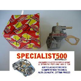 POMPA CARBURANTE FIAT 500 F L R e 500 D (da telaio nr. 746364 in poi) - ALTA QUALITA' -