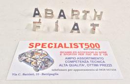"""SCRITTA """"FIAT ABARTH""""  IN METALLO CROMATO - LETTERE SINGOLE SEPARATE"""