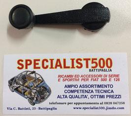 MANIGLIA ALZAVETRO PLASTICA NERA CON TAPPO NERO 500 L - R - 126