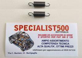 COPPIA MOLLE ESTERNE PIATTO PORTAGANASCE PER RICHIAMO BRACCIO FRENO A MANO 500 TT - 126 (595 cc)