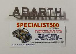 """SCRITTA IN ACCIAIO SUPER LUCIDO """" ABARTH """""""