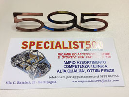"""SCRITTA IN ACCIAIO SUPER  LUCIDO  """"595"""" DA CRUSCOTTO"""