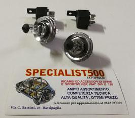 COPPIA LAMPADA ALOGENA H5 LAMPADINA FANALE P45T 12V 60/55W + COPPIA RELE'