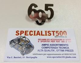 """SCRITTA IN OTTONE CROMATO """"695"""" MEDIA PER FIANCHI"""