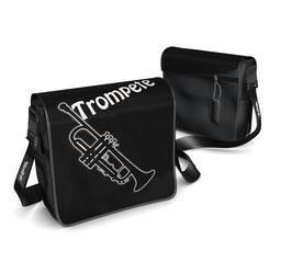 Deckel S - Trompete schwarz/weiss