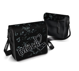 Deckel S - Blöck schwarz/weiss mit Notenhintergrund