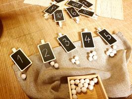 Beschreibbare Tafelklammern, 12 Stück