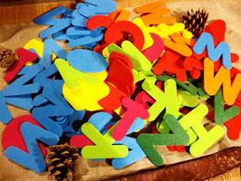 Mega Filzbuchstaben, 150 Stück