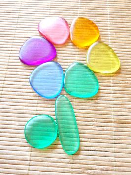 Kieselsteine, transparent