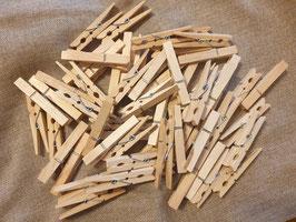 Holzklammern, 60 Stück