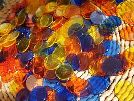 Zählchips transparent, 250 Stück