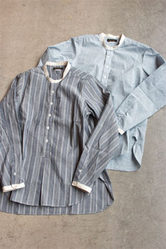 MULLER&BROS./ミュラーアンドブロス stand collar shirts MB013