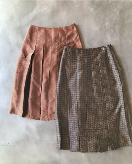 Robes&Confections/Cupre Jacquard Pleated skirt