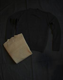 G&F Co. red cross mock neck sweater KNT-28-BU