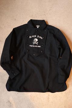 BLACK SIGN/ブラックサイン Modified Lt.Melton Herringbone Independent Shirt  bsfl-18101B