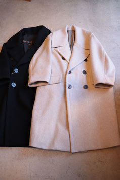 Robes&Confections/ローブス&コンフェクションズ/Super100's Double Cloth Wool Beaver Double-breasted Coat