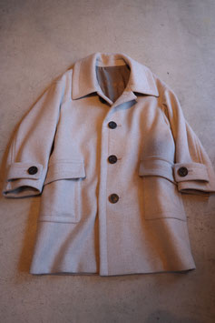 Robes&Confections/Super100's Double Cloth Wool Beaver Soutien Collar Coat  ステンカラーコート