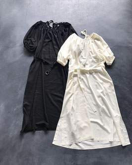 Robes&Confections / Rayon Twill Gathered Sack Dress