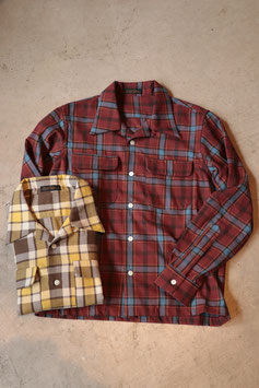 MULLER&BROS/ミュラーアンドブロス open collar shirts MB009