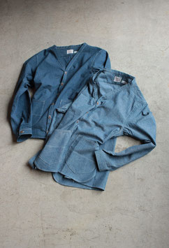 ANACHRONORM/アナクロノーム NEP CHAMBRAY SHIRT-CARDIGAN ANA158