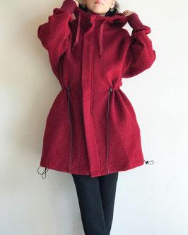 Robes&Confecions/New Zealand Wool Sheep Pile Zip-up Parka