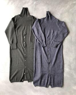 Robes&Confections/Middle gauge wool knit turtleneck dress