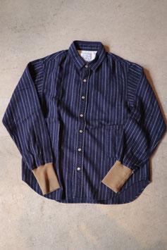 H.UNIT STORE LABEL/エイチユニットストアレーベル Flannel stripe long rib shirt HSL-SH041
