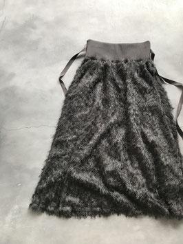 Robes&confections / Cut fringe jacquard flare skirt